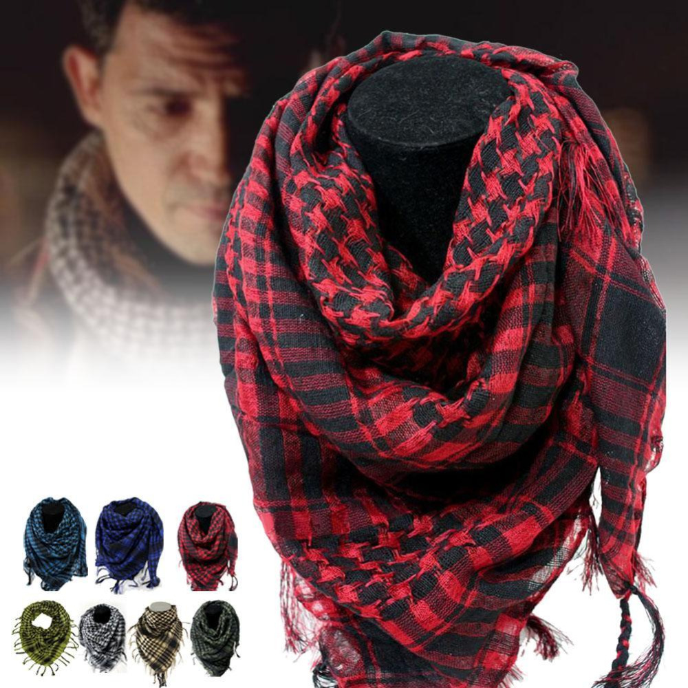 New 100% Cotton Winter Windy Military Windproof Scarf Thick Muslim Hijab Shemagh Tactical Desert Arab Scarves For Men Or Women