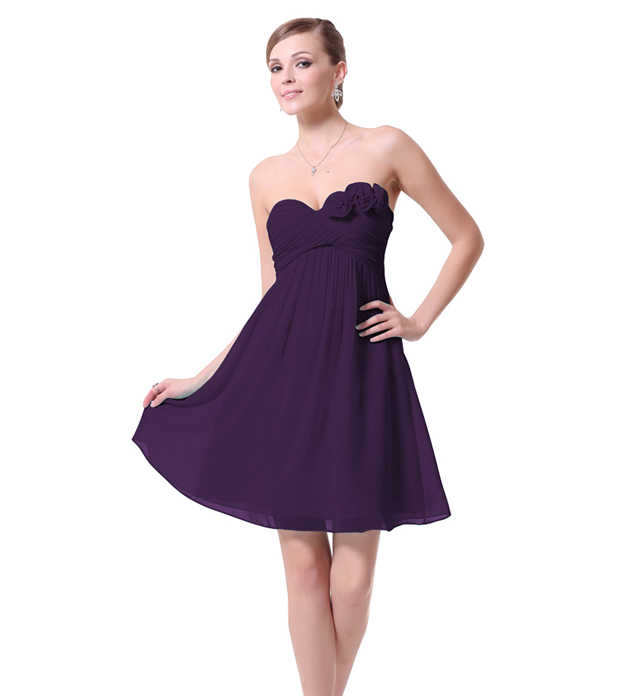 2087159d6e5dc Pretty girl Purple Chiffon bridesmaid dress sisters dress short Wedding  Party Dress bridal female Bridesmaid Dresses 9 styles