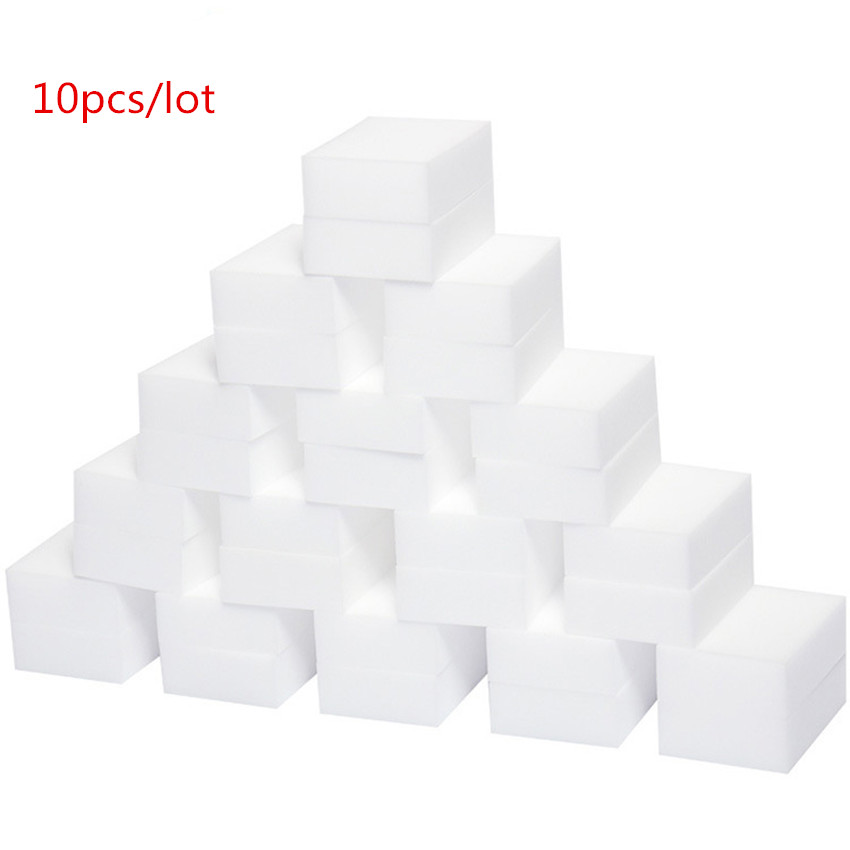 10pcs Multi funtional White Magic Sponge Eraser Melamine Cleaner for Kitchen Dish Bathroom Cleaning Tools Nano Sponges 10*6*2cm-in Sponges & Scouring Pads from Home & Garden