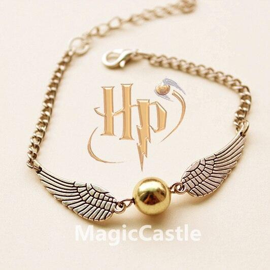 Schmuck & Zubehör Mode Film Schmuck Hogwarts Sortierung Hut Quidditch Goldenen Schnatz Hedwig Harry Schal Der Kristall Perlen Armband Armreifen-25