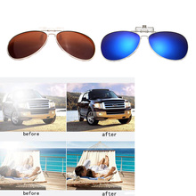Men Women Polarized Clip On Sunglasses Fishing Night Anti UV Driving Cycling riding Sunglasses Clips