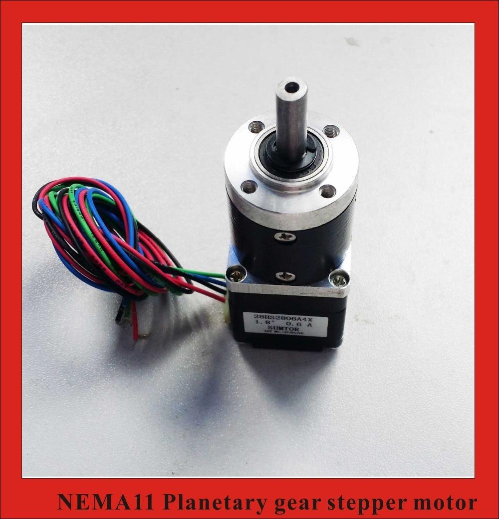 51:1 Nema11 Planet Gear Stepper Motor length 28mm Nema 11 Geared Stepper Motor
