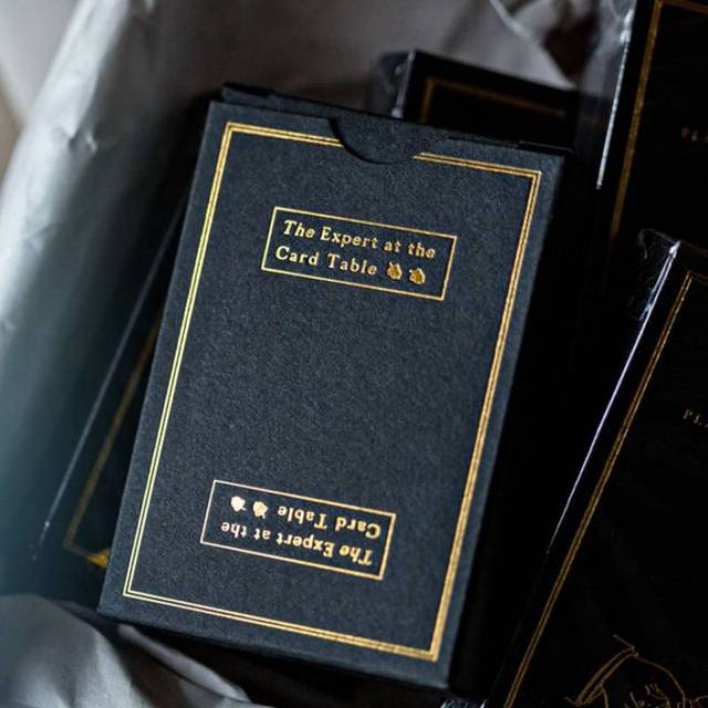 Ellusionist SWE BLACK Limited Deck The Expert At The Card Table Playing  Cards Magic Tricks