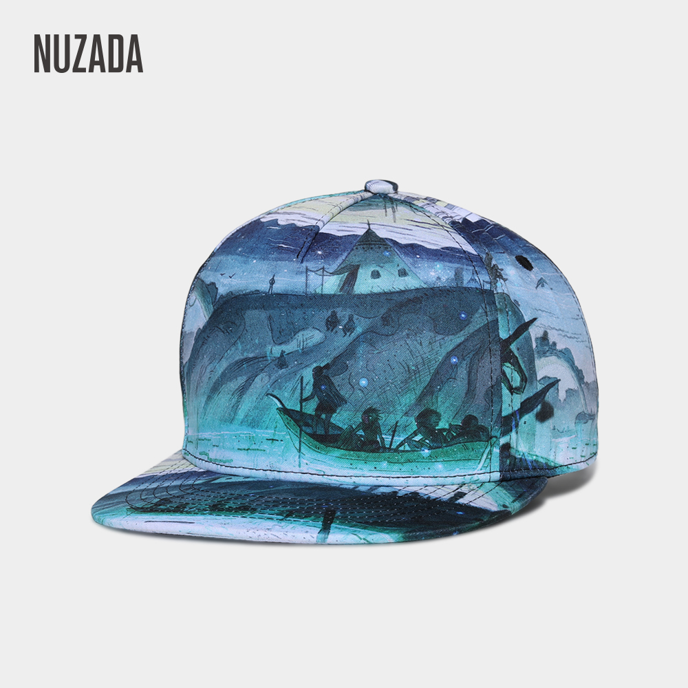 Brand NUZADA 3D Printing Men Women Couple   Baseball     Cap   Creative Design   Caps   Cotton Snapback Hats Bone Adjustable