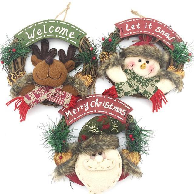 Artificial Flower Wreath Door Hanging Christmas Decorative Flowers ...