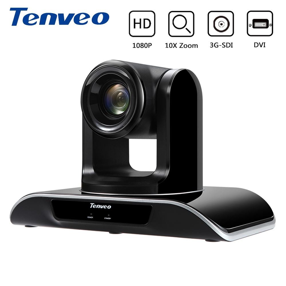 Tenveo VHD10N Full HD 1080P PTZ Video Conference Camera 10X Zoom SDI Camera With 3G SDI DVI HDMI DVI Transform 1/2.8 Exmor CMOSS