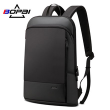 BOPAI Slim Laptop Backpack Men 15.6 inch Office Work Business Bag Unisex Black Ultralight Thin Back Pack