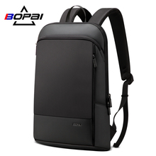 BOPAI Laptop Backpack Business-Bag Office-Work Slim Black Unisex Men Thin
