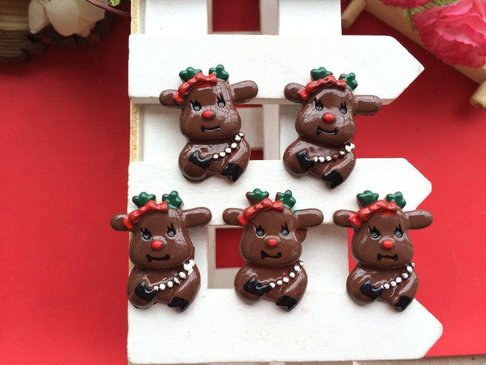 Envío libre! Resina de Navidad de Santa alces Cabochons para DIY ...