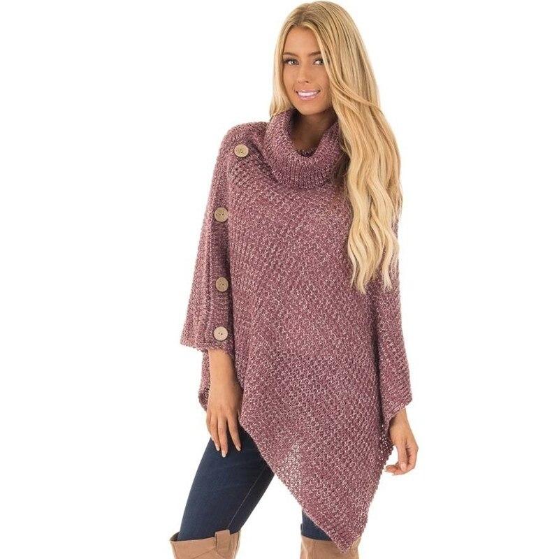 Col Kelly black Bouton Pour Grey Couleur Chandail gray Solide Sac Femme De Femmes 2019 light Blouson Irrégulière Sweater Hem pink Nouveau Beige Haut zPftU