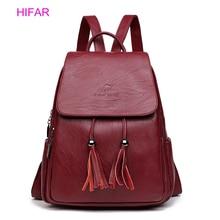 Fashion 2019 Women Backpacks Women's Leather Backpacks Female school backpack women Shoulder bags for teenage girls Travel Back цены онлайн