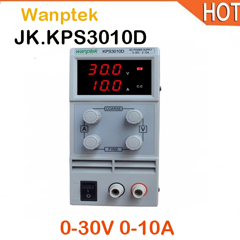 Wanptek KPS3010D Mini LED Digital Adjustable DC Power Supply ,0~30V 0~10A ,110V-220V, Switching Power Supply 0.1V/0.01A wanptek mini adjustable digital display 30v 60v 5a 10a dc power supply switching power supply