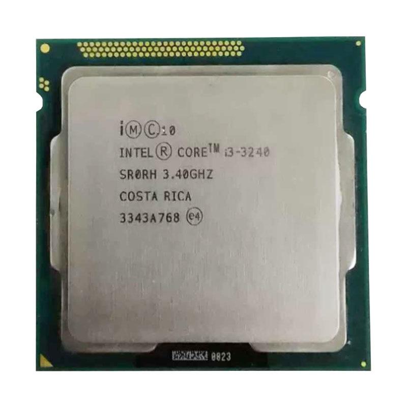 Intel Core I3 3240 Cpu 3.4Ghz 3M Cache LGA 1155 TDP 55W Desktop Processor Can Use H 61 B75 B85 Z77 H61 Motherboard Suppo I3 3240