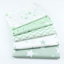 Pentagram Printed Cotton Twill Fabric Baby Quilt Bedding DIY Sewing Quilted Childrens Smock Textile Thin
