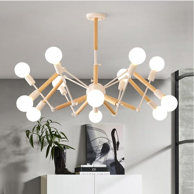 Винтаж современный светодио дный люстра Паук блеск E27 гостиная освещение для Кухня Ресторан люстры светильник светодио дный