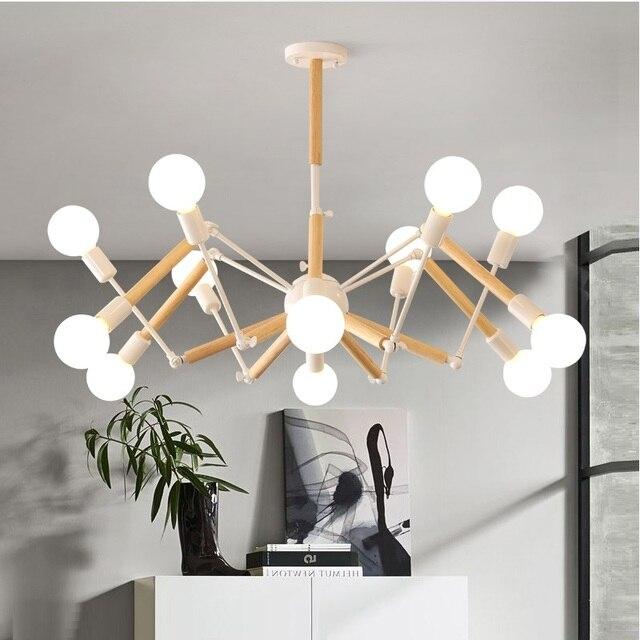 En iyi satın alım Vintage, Modern LED Avize Örümcek Parlaklık E27 ...