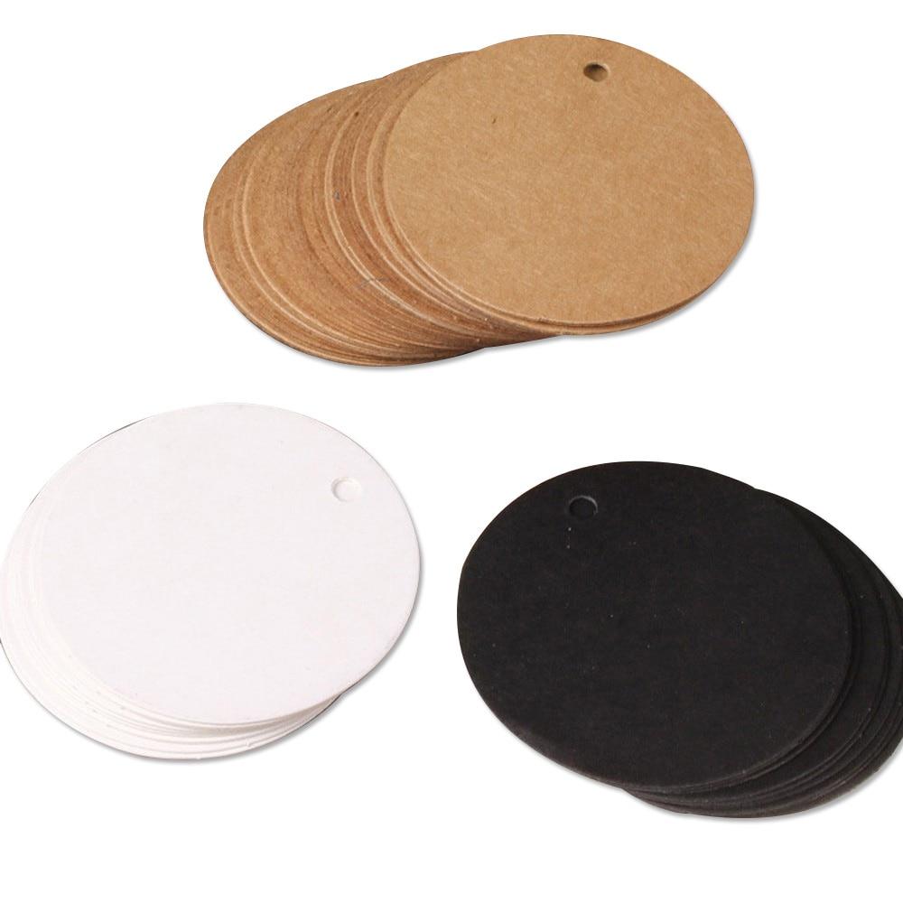 5 см этикетки из крафт-бумаги белый круглый маленький этикетка с пустой ярлык с логотипом для закладки упаковывать шоколада карты оптовая п...