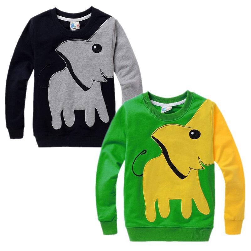 Elephant Baby Kids Boys Clothes Long Sleeve Tops T-shirt Pullover Sweatshirt kids boys tops Children Clothes 2016 Autumn