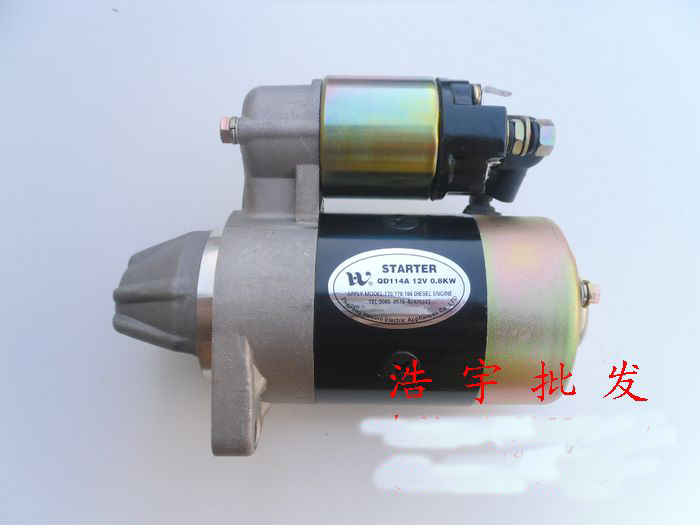 Diesel engine parts 186F 178F 170F tiller electric start motor diesel generator 5KW motor 170f 178f 186f 188f 192f engine parts the starter motor two choice please check rotation of the starter