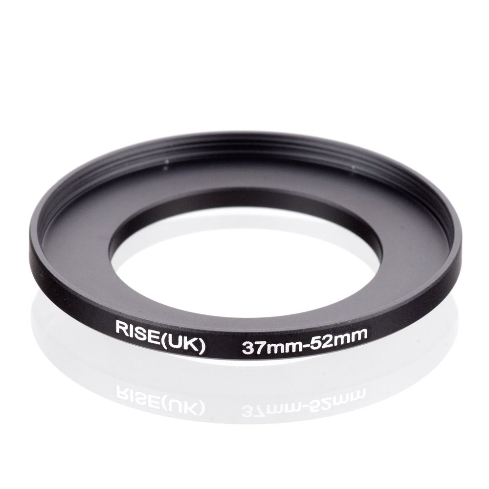 original RISE(UK) 37mm-52mm 37-52mm 37 to 52 Step Up Ring Filter Adapter black free shipping кольцо fujimi frsu 4952 step up 49 52mm