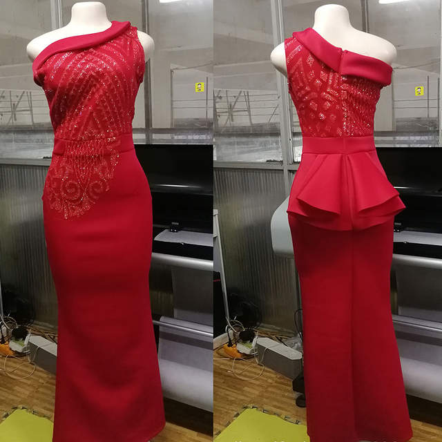 b8ad6e4be1751 US $29.97 44% OFF Sequins Bodycon Trumpet Party Dress Women Elegant Slim  Ruffle Christmas Ladies Prom Evening Formal Dinner Red Sexy Maxi Dresses-in  ...