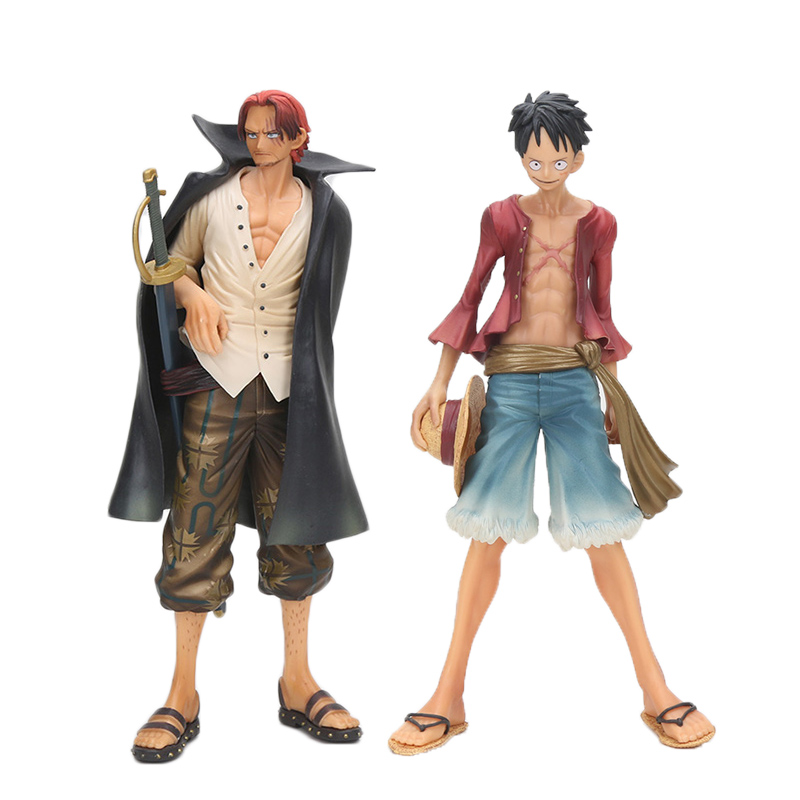 25cm One Piece 2 years later Monkey D Luffy shanks figure action toys One Piece figure фигурка one piece dxf manhood 2 gild tesoro 15 см