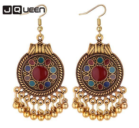 Ethnic Vintage Tassel Dangle Earrings for Women Bohemia Style Earring  Indian Jewelry Brincos 2018 Wholesale 8126b0b54d50