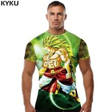 KYKU Brand Dragon Ball Z T shirt Goku Tshirt Green Hair T-shirt Meteorite Clothes Lightning Tops  Clothing Men Mens Top Tee Punk