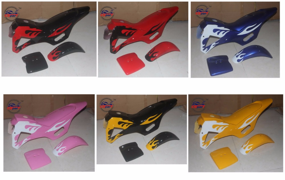 цена на Plastic Fairing Kit Fender Plate Guard Cover for Mini Moto Dirt Pit Bike 47cc 49cc
