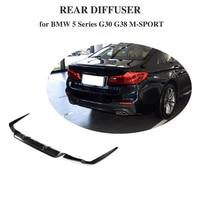 5 Series Carbon Fiber Rear Bumper Lip Spoiler Diffuser for BMW G30 M Sport Sedan 4 Door 2017 2018 2019 540i Non Standard