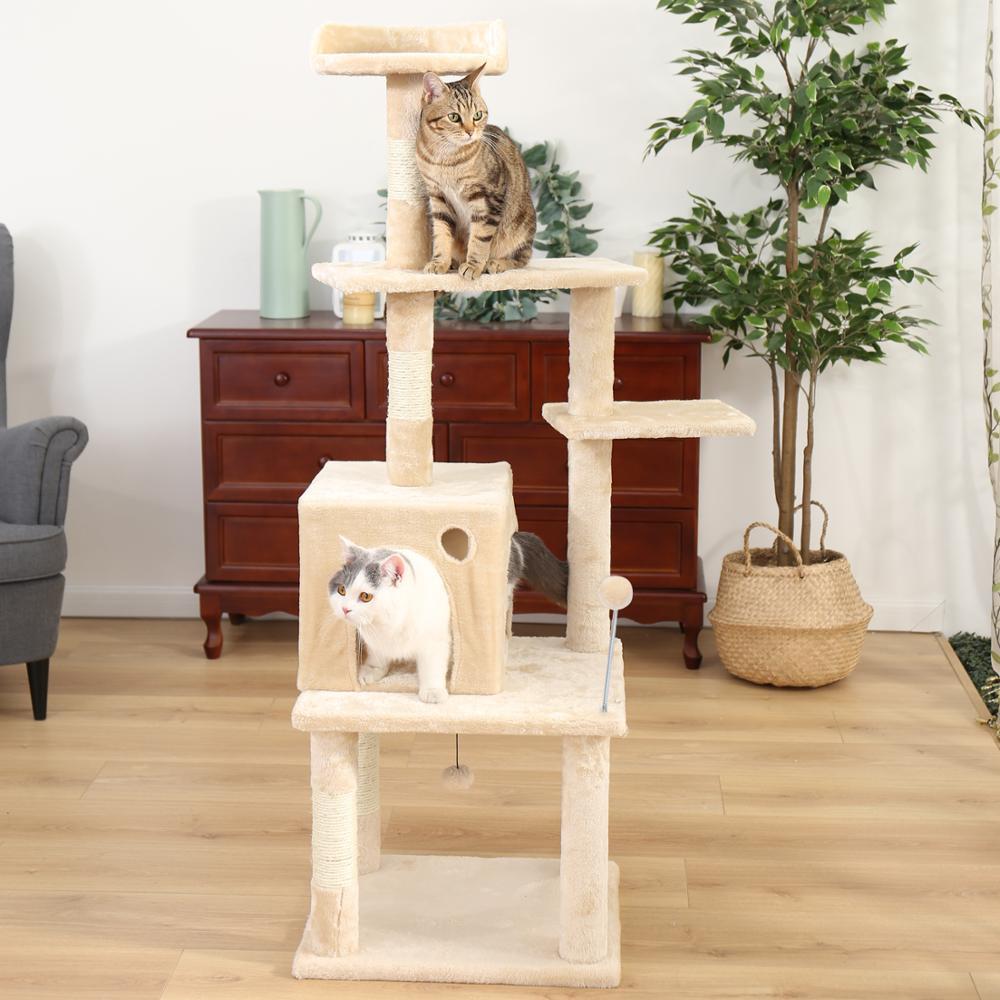 RU доставка в домашних условиях домик на дереве для кошки кошка дерево высокий Кот башня кровать с когтеточкой котенок игрушки Mascotas - 2