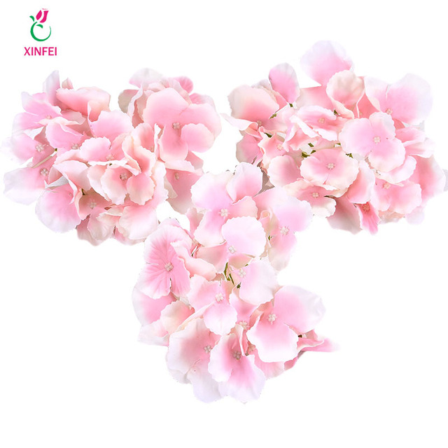 Xinfei 5pcs 12cm artificial hydrangea flower heads diy silk flower xinfei 5pcs 12cm artificial hydrangea flower heads diy silk flower head for wedding home party decoration mightylinksfo
