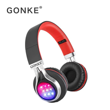 hot deal buy gonke wireless bluetooth earphones headset stereo headphones earphones with microphone /tf card for mobile phone music