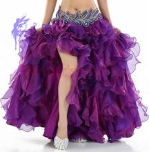 HOT SALE! senior yarn belly dance costumes sexy women belly dance stage skirt for ladies belly dance skirts