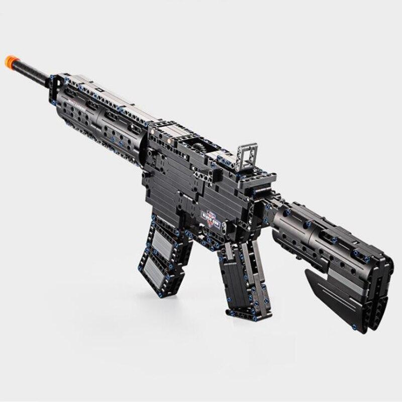 Jouet arme Airsoft Air pistolets et MP5 M4A1 mitrailleuse jouet 621 pièces bloc de construction brique enfants jeu de plein Air CS Cosplay modèle