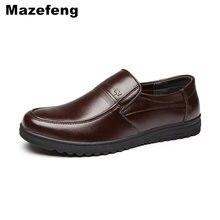 Mazefeng Frühjahr Männlichen Kleid Schuhe Mode Männer Casual Schuhe Aus Echtem Leder Schuhe Männer Business Atmungs Kuh Leder Karree