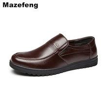Mazefeng wiosna męskie buty sukienka moda męska obuwie buty ze skóry naturalnej mężczyźni biznes oddychająca skóra bydlęca kwadratowy palec u nogi