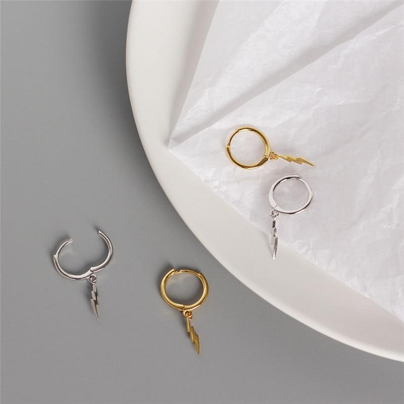 Women's Earrings 925 Sterling Silver Lightning Stud Earrings Fashion Style Girlfriend Glamour Earrings Fashion Elements Jewelry