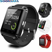 SOONHUA U8 Bluetooth Smart часы с Сенсорный экран Камера громкой связи вызов Наручные Шагомер Поддержка TF карты для Android IOS Телефон