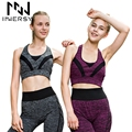 Innersy Women's Gym Sports Running set Slim Leggings+Tops Women Yoga Sets Fitness Workout Clothing Sport Suit for Female OR-227