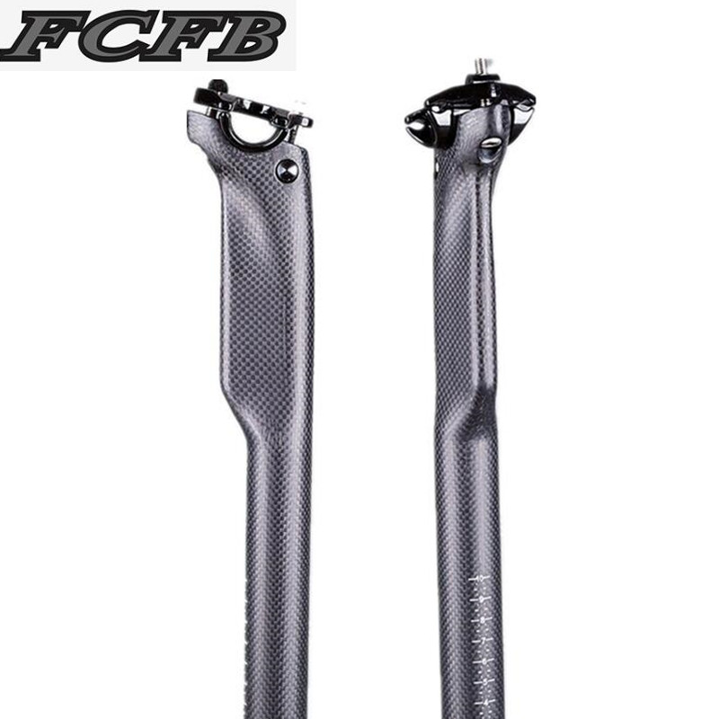 FCFB NO LOGO Cycling 3K matte Carbon Bike Seatpost MTB Road Bike Seat Carbon Seatpost 27.2 / 30.8 / 31.6 * 350 /400mm bike parts стоимость