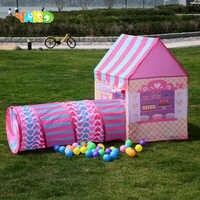 YARD children Play Kids Tent Tunnel Ball Pit Baby Folding Play Tent Tunnel Baby Crawl Playhouses Kids Mat games toys