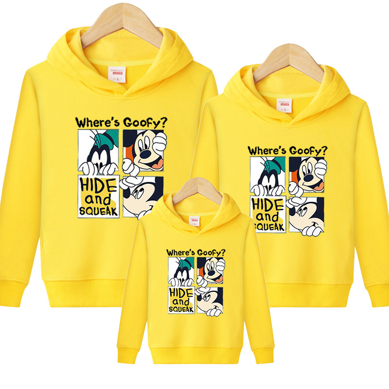 HTB1dXpUVOLaK1RjSZFxq6ymPFXap - Family Matching Outfits Kids Long Sleeves Cartoon Mickey Hoodies Coats Father Mother Daughter Son Sweatshirts Dad Mom Hoodies