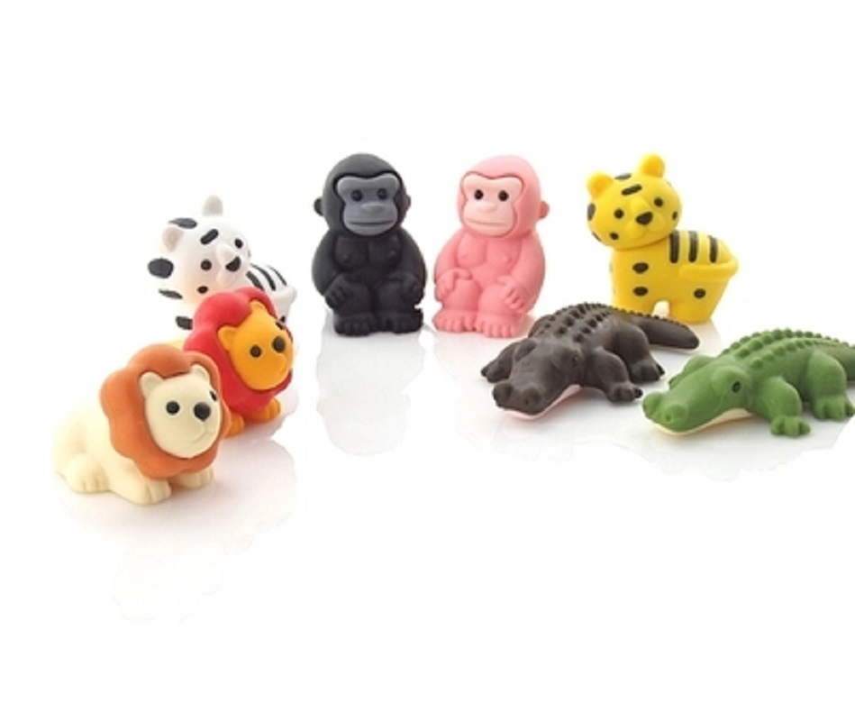 Japanese IWAKO Forest Animal Rubber Wild Animal Eraser 3D Modeling Rubber Removable