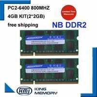 KEMBONA livraison gratuite promotion ordinateur portable ddr2 4 gb kit (2*2 gb) 800 mhz pc2-6400 sodimm ordinateur portable so-dimm ordinateur portable