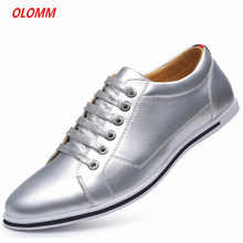 Mens Dress Shoes Golden glitter mens dress shoes Men Elegant Patent Flats Oxford Footwear Lace Up Pointed formal shoes men(China)