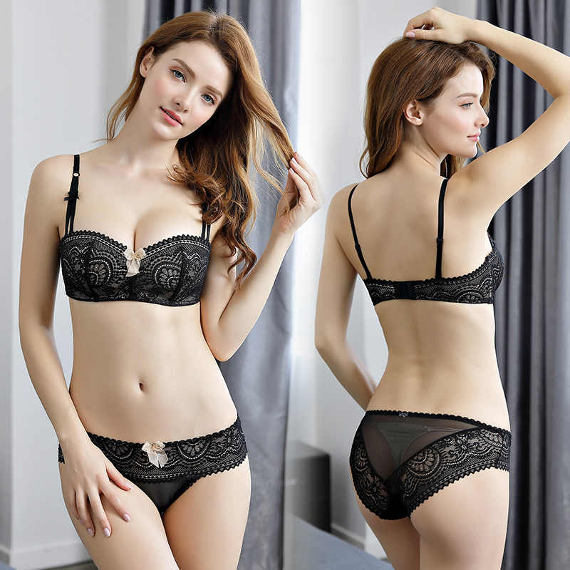 368f4c107c ... OranriTing 2018 Sexy Lingerie Set New Intimates Lace Push Up Bra Briefs  Women Underwear Seamless Bra