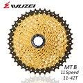 WUZEI 11 скоростной дисковод MTB горный велосипед запчасти кассеты Freewheel Золотой 11-42 т для запчастей XT M8000 SLX M7000 M9000 k7 NX GX