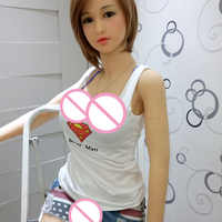 145CM Sexy Doll real Silicone sex dolls with mental Skeleton minni Japanese love dolls Life size for man