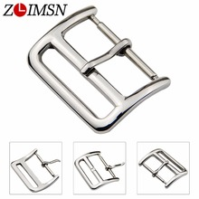 100Pcs DHL 16mm 18mm 20mm 22mm Stainless Steel Watchband Buckle Silver Polished Watch Clasp Pin Belt Buckles K-K046 EMS